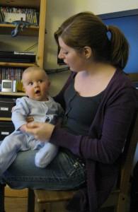 Sam with aunty Cara