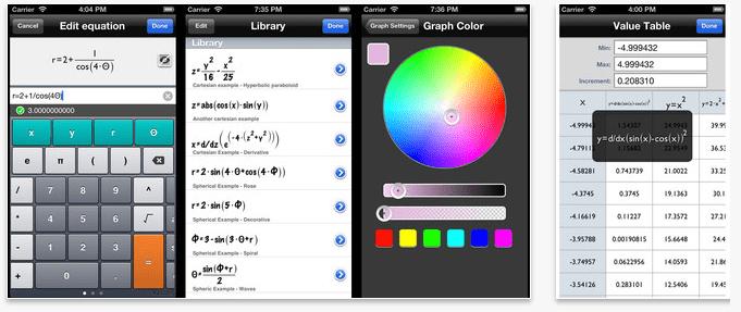 Quick Graph App function screenshot