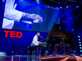 Sharp-dressing piano-playing man: Jonathan Batiste at TEDGlobal 2012