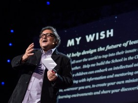 A school in the cloud: Sugata Mitra accepts the TED Prize at TED2013