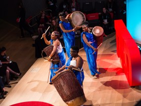 A troupe of Rwandan drummers, odes to grandmas and laughing at cerebral palsy: A recap of TEDWomen 2013, Session 3
