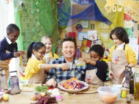Jamie Oliver sets eyes on a Guinness World Record with his Food Revolution