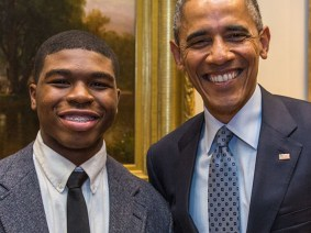 Barack Obama sits down for a StoryCorps interview with a White House mentee