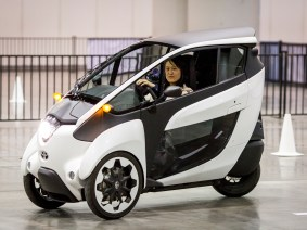 Test driving the Toyota i-Road concept car