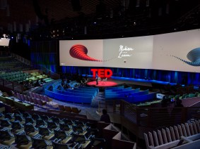 How we gave TED's pop-up theater a mini-makeover