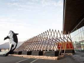 A portable feast: TED's wooden pavilion