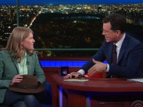 "On ""The Late Show with Stephen Colbert,"" Sarah Parcak shows the lost city of Tanis, teases her TED Prize wish"
