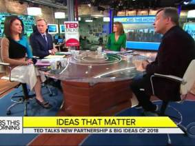 """Ideas That Matter"": A new partnership with CBS This Morning and popular TED speakers"