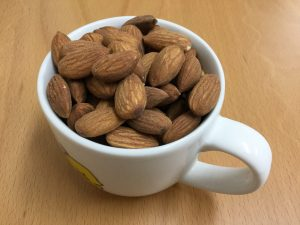 almonds in cup
