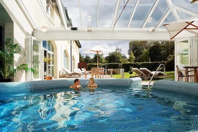 outdoor pool, 35 Wild Food Pantry. 22 Waterside Cocktails 19 Suite 6 mezz suit BrookLodge & Macreddin Village Ireland Golf Vacation