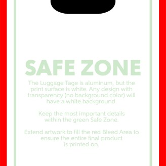 Luggage Tag Print Template