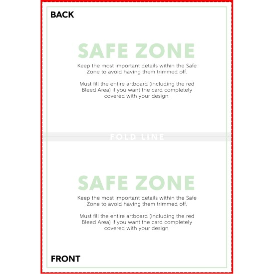 Horizontal Folded Card Template
