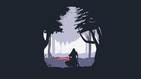 Star Wars Wallpaper Minimal Kylo Ren Marko Manev