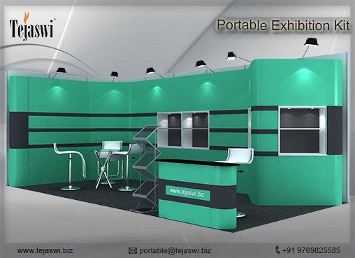 6 mtr x 3 mtr Portable exhibition kit 2 side Open (3)