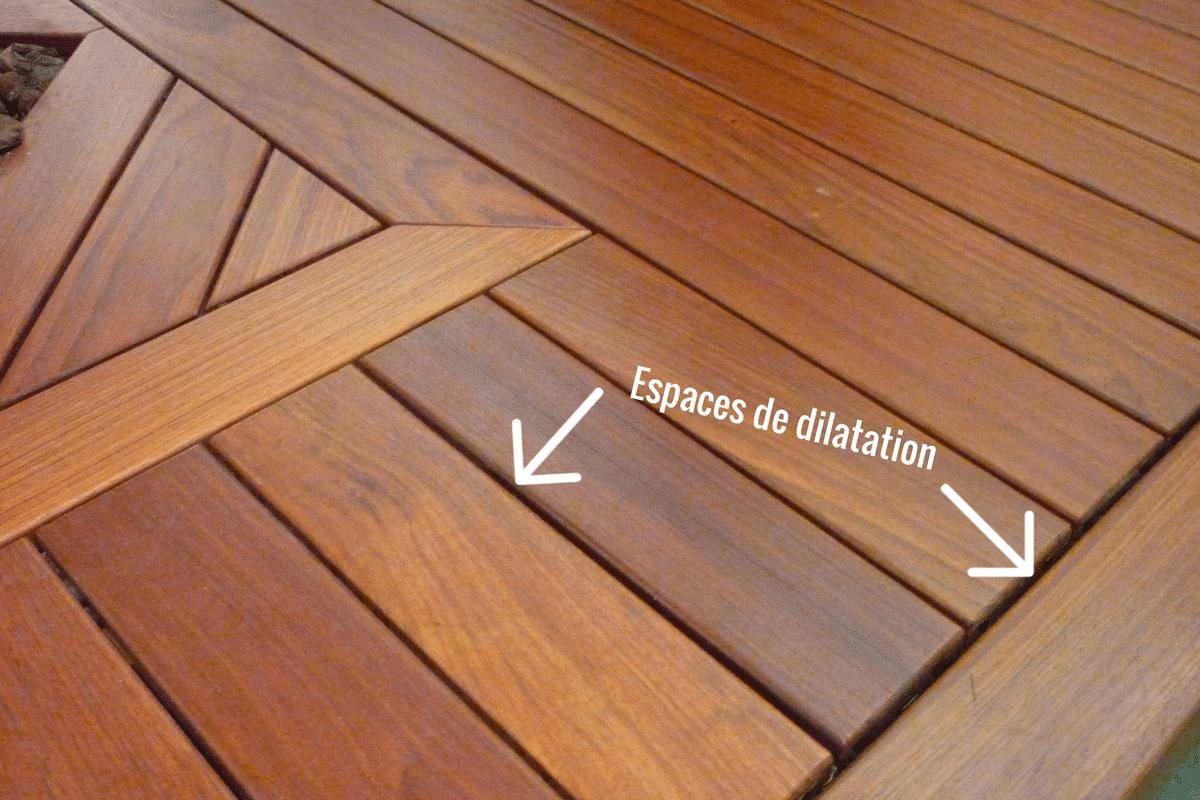 Gallery Of Espace De Dilatation Entre Les Lames De Terrasse Bois With  Espacement Lame Terrasse Bois