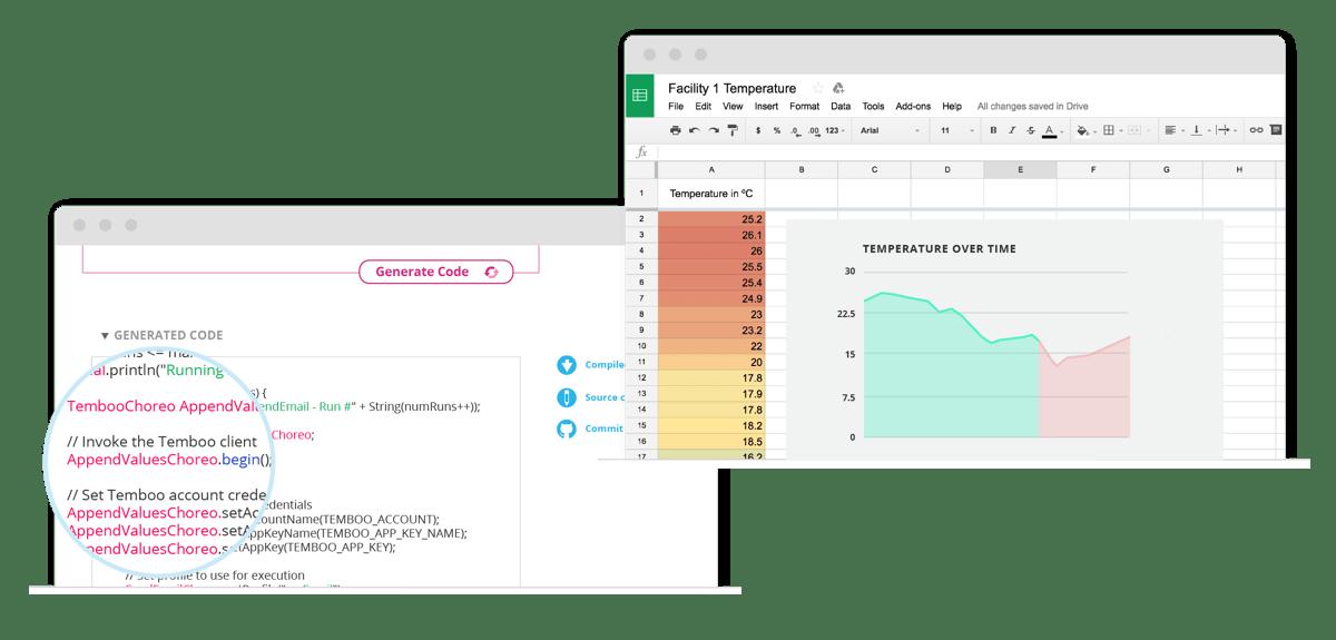 Google Spreadsheet with sensor data