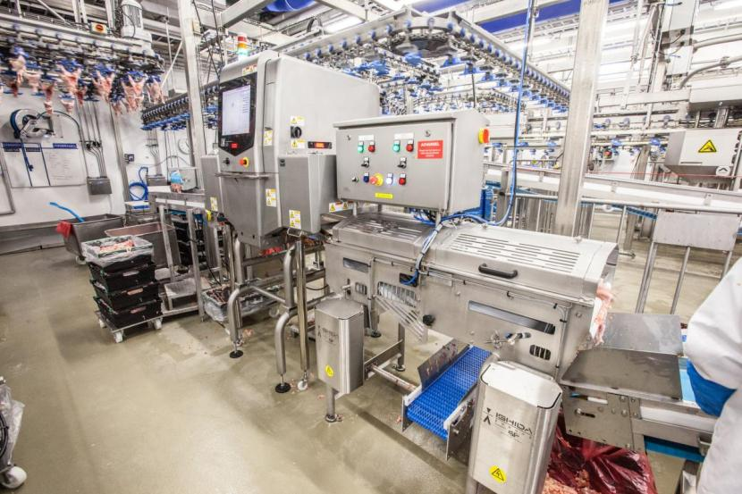 A large food processing machine that can block wireless signals.