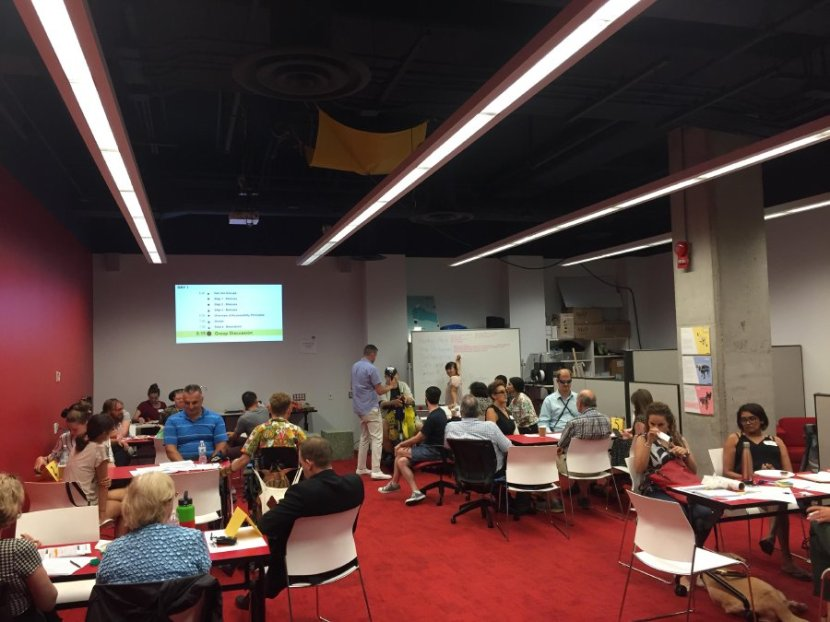 Photo of co-design session at the inclusive design research center
