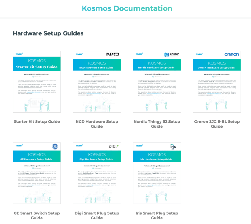 Image of our documentation page