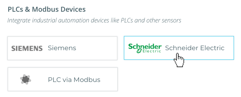 PLCs & Modbus Devices supported by Kosmos