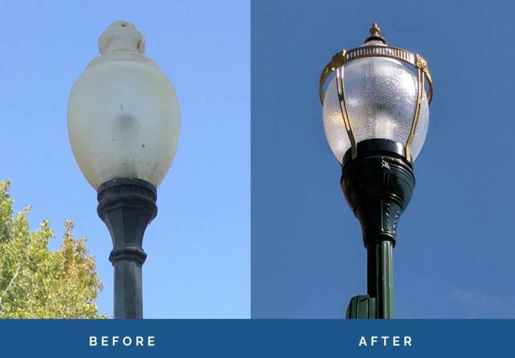 Smart streetlights in San Mateo, California