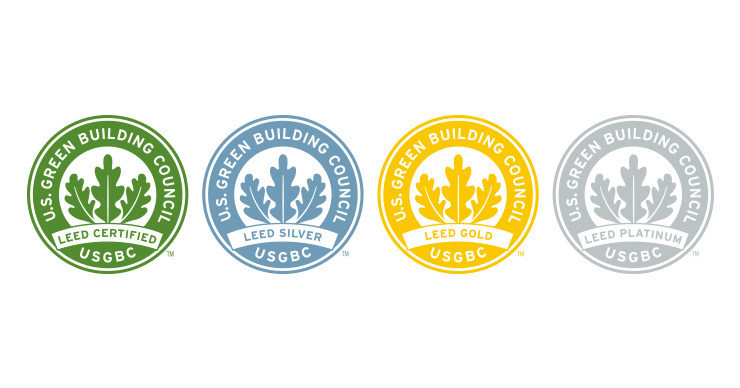 Image displaying different LEED certificates