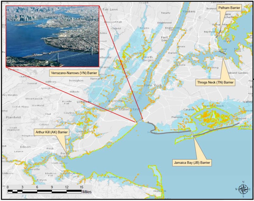 Coastal resiliency proposal by the United States Army Corp of Engineers - The storm surge barrier wall