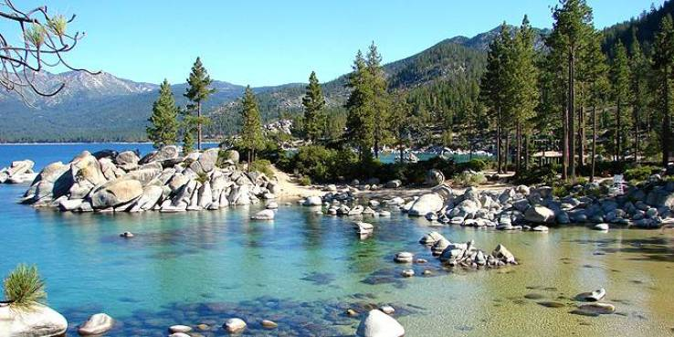 Image showing Lake Tahoe's clear water.