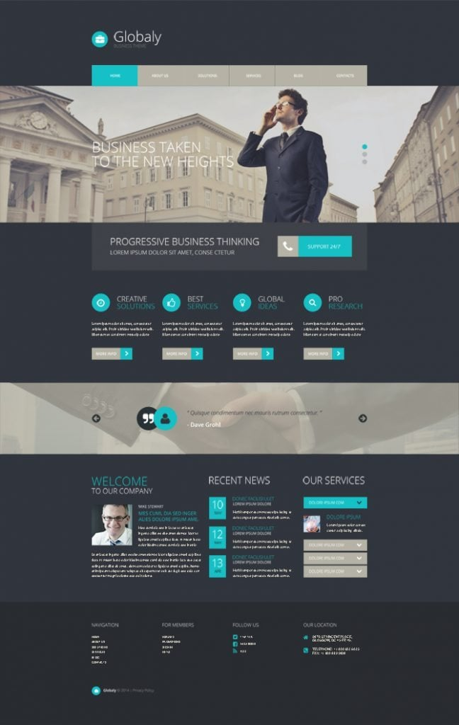 Free WordPress Business Theme With A Modern Design Character