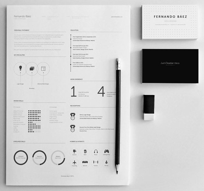 check a minimalist psd solution with an elegant black and white