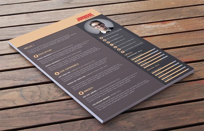 resume template built in the psd format the freebie is easy to edit