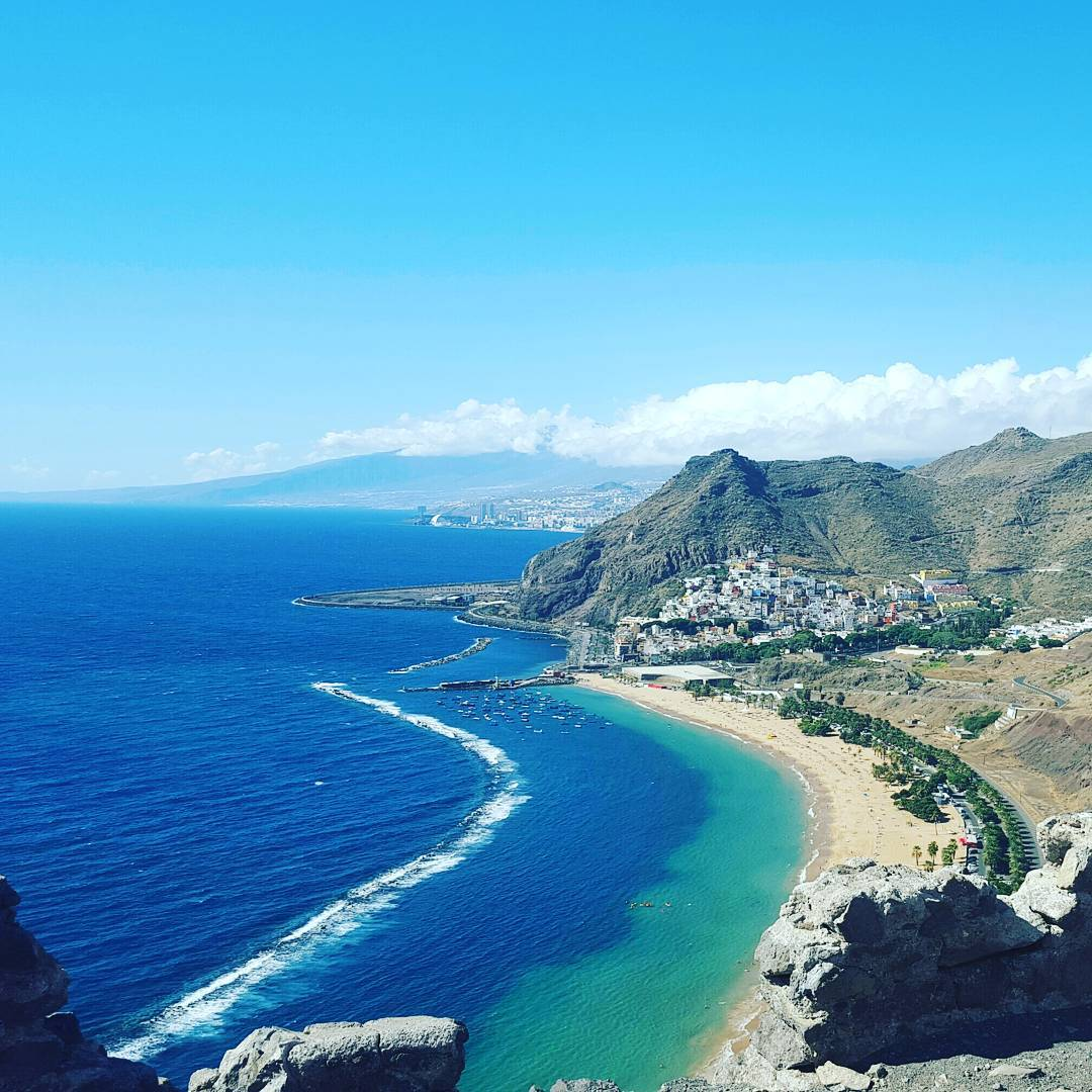 Visiting Playa de Las Teresitas by the San Andres town along a private tour Around the Tenerife Island, Canary Islands