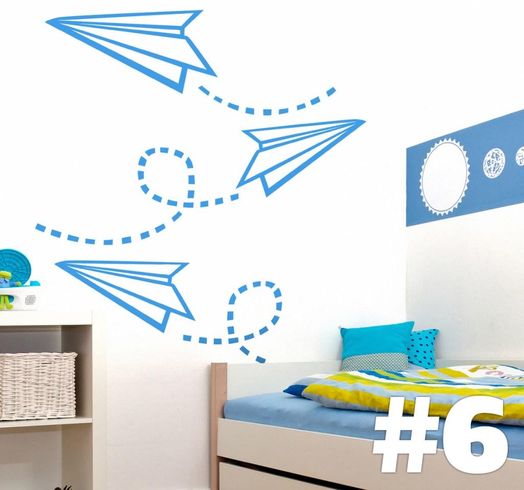 decoracion interiores origami aviones