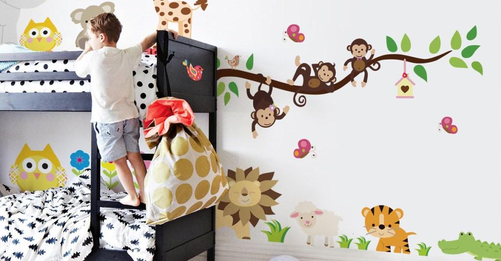 habitacion de bebe selva