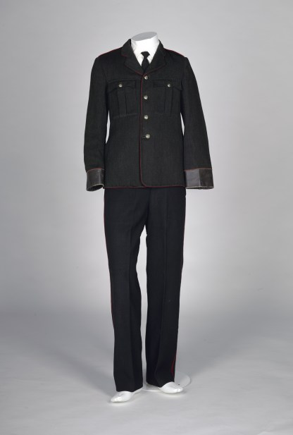 Postal uniform in black