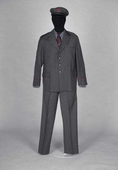 Grey men's postal suit
