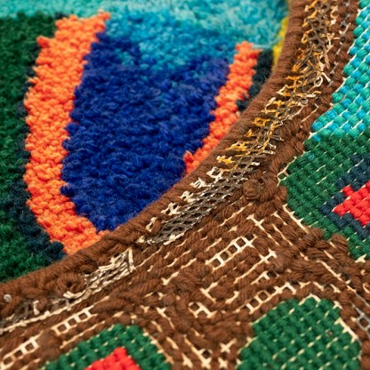 Guy Ngan and Joan Calvert, Forest in the sun (detail), 1976, wool. Gift of the New Zealand Government, 2003. Te Papa (GH014391)