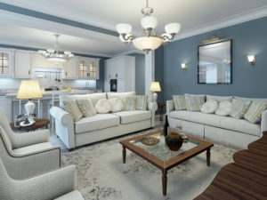 living room in the johnston county parade of homes