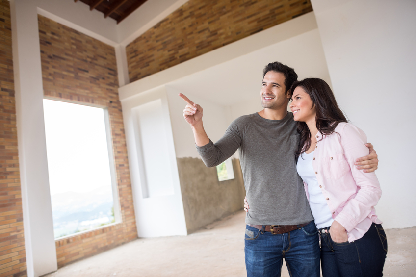 touring a home when buying new construction