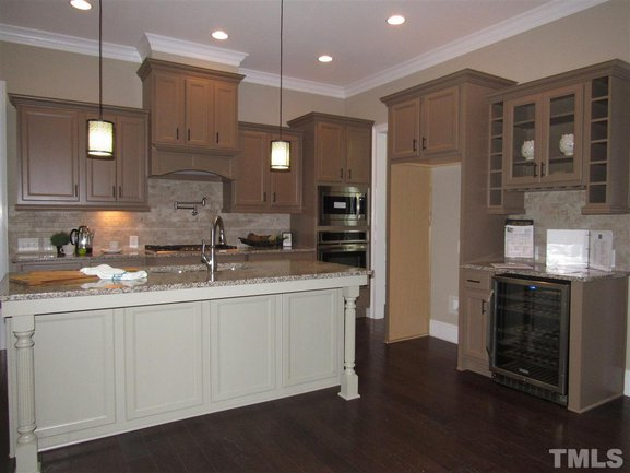 beautiful gourmet kitchen in clayton new construction home for sale