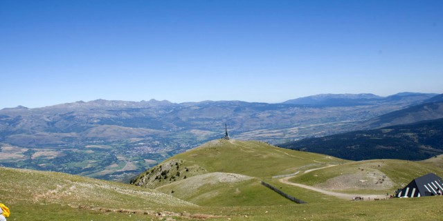 Imagen captada desde la estación de esquí de La Molina.