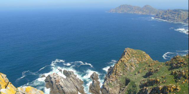 Vistas desde las Islas Cíes.