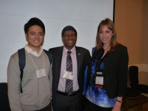 (L to R): Nakada, from Japan; Andy Curtis, TESOL International President; Sarah Elia, NYS TESOL President