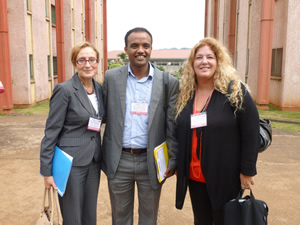 (L to R) TESOL Executive Director Rosa Aronson; TESOL Past President Christine Coombe; AAELTA President Abayneh Haile
