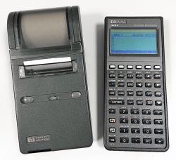 My HP-48SX calculator and 82240A printer