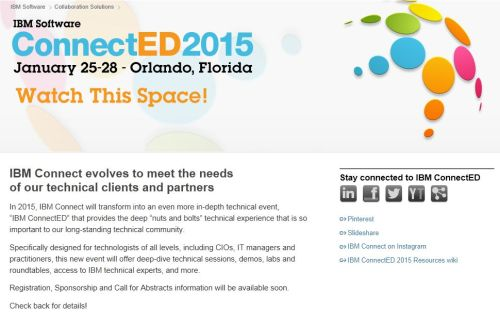 The IBM ConnectED 2015 website.