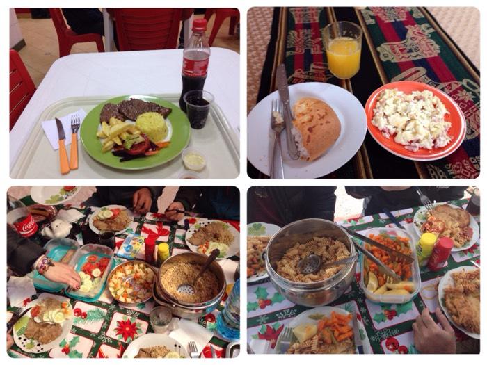 ボリビアでの食事。