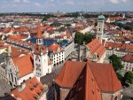 ミュンヘンで一番古い教区教会である、ペーター教会の頂上より撮影したミュンヘンの街並みです。