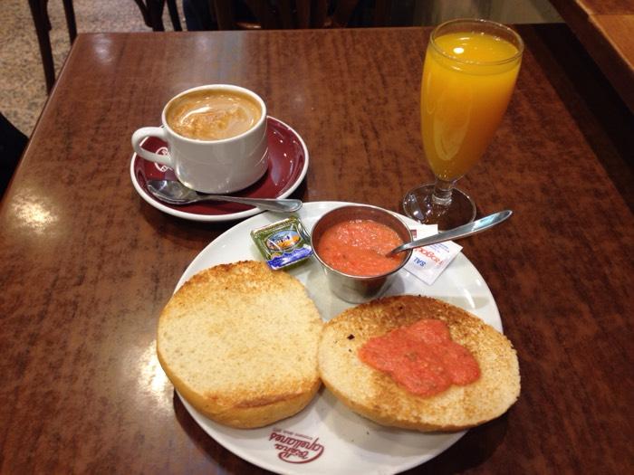 マドリードでの朝食その2。