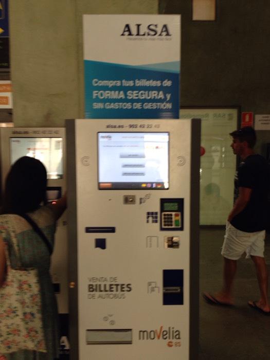 マドリードの切符販売機。